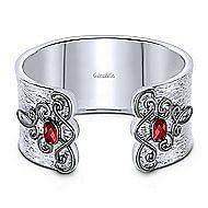 925 Silver Goddess Cuff Bangle angle 1