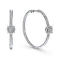 925 Silver Hoops Classic Hoop Earrings angle 1