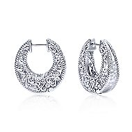 925 Silver Huggies Huggie Earrings angle 1