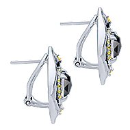 925 Silver Huggies Huggie Earrings angle 3