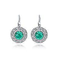 925 Silver Madison Drop Earrings angle 1