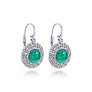 925 Silver Madison Drop Earrings angle 2