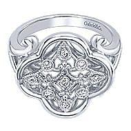 925 Silver Madison Fashion Ladies' Ring angle 1