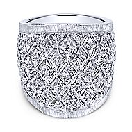 925 Silver Madison Wide Band Ladies' Ring angle 1