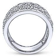 925 Silver Madison Wide Band Ladies' Ring angle 2