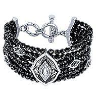 925 Silver Mediterranean Beads Bracelet angle 1