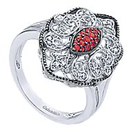 925 Silver Mediterranean Fashion Ladies' Ring angle 3
