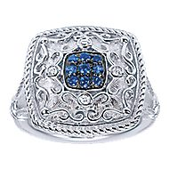925 Silver Mediterranean Fashion Ladies' Ring angle 4