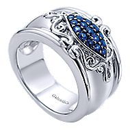 925 Silver Mediterranean Statement Ladies' Ring angle 3