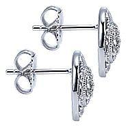 925 Silver Mediterranean Stud Earrings angle 3