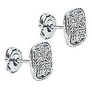 925 Silver Mediterranean Stud Earrings angle 2