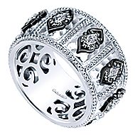 925 Silver Mediterranean Wide Band Ladies' Ring angle 3