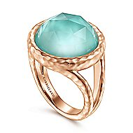 925 Silver Rose Plated Souviens Fashion Ladies Ring