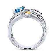 925 Silver Scalloped Wide Band Ladies Ring