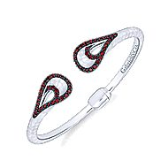 925 Silver Souviens Hinged Cuff Bangle
