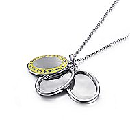 925 Silver Swing Locket Necklace angle 2