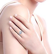 Adaline 14k White Gold Round Halo Engagement Ring
