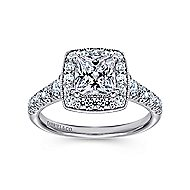 Addison 14k White Gold Princess Cut Halo Engagement Ring