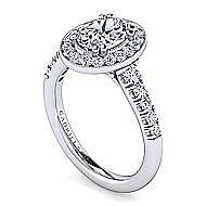 Addison Platinum Oval Halo Engagement Ring angle 3