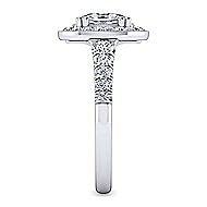 Addison Platinum Oval Halo Engagement Ring angle 5