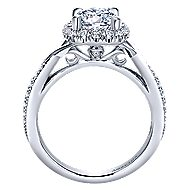Aguilena 18k White Gold Round Halo Engagement Ring angle 2