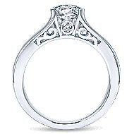 Akira 14k White Gold Round Solitaire Engagement Ring angle 2