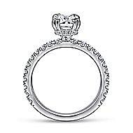 Alina 14k White Gold Emerald Cut Straight Engagement Ring