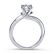 Alira 14k White Gold Round Bypass Engagement Ring angle 2