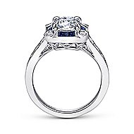 Amalia 18k White Gold Round Halo Engagement Ring