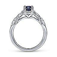Amari 14k White Gold Oval Halo Engagement Ring