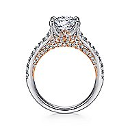 Anais 18k White And Rose Gold Round Straight Engagement Ring angle 2