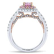 Analia 14k White And Rose Gold Oval Double Halo Engagement Ring angle 2