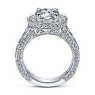 Antonia 18k White Gold Round Halo Engagement Ring angle 2
