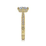 Arabella 14k Yellow Gold Round Straight Engagement Ring angle 5