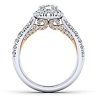 Ariana 14k White And Rose Gold Marquise  Halo Engagement Ring angle 2