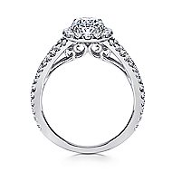 Ariane 18k White Gold Oval Halo Engagement Ring angle 2