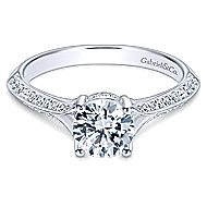 Arlo 14k White Gold Round Split Shank Engagement Ring angle 1