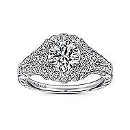 Armada Platinum Round Halo Engagement Ring angle 5