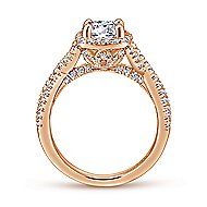 Aster 14k Rose Gold Round Halo Engagement Ring angle 2