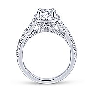 Aster 14k White Gold Round Halo Engagement Ring angle 2