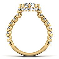 Augusta 14k Yellow Gold Round Straight Engagement Ring angle 2