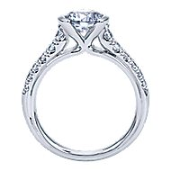 Aura 14k White Gold Round Straight Engagement Ring angle 2