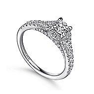 Autumn 14k White Gold Round Halo Engagement Ring angle 3