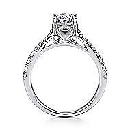 Avery 14k White Gold Round Straight Engagement Ring angle 2