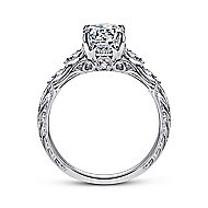 Azalea Platinum Round Straight Engagement Ring angle 2