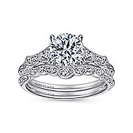 Azalea Platinum Round Straight Engagement Ring angle 4