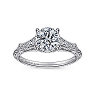 Azalea Platinum Round Straight Engagement Ring angle 5