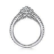 Azucena 18k White Gold Marquise  Halo Engagement Ring angle 2