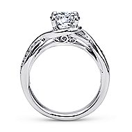 Bailey 14k White Gold Round Twisted Engagement Ring angle 2