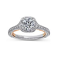 Bali 18k White And Rose Gold Round Straight Engagement Ring angle 5